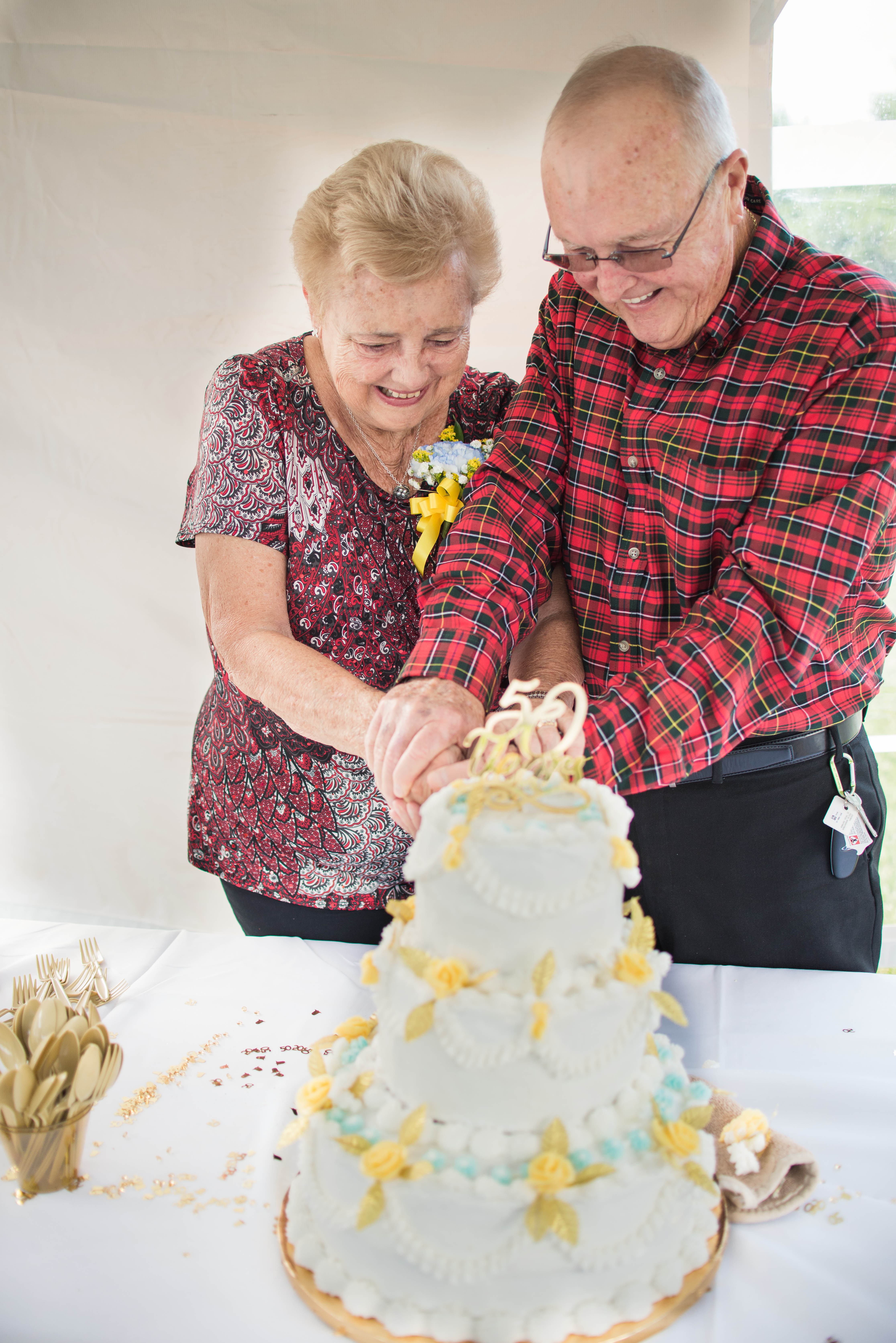 50th wedding anniversary party cake smash